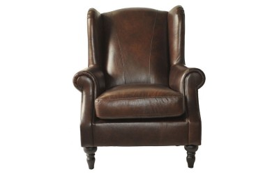 Queen Ann Chair Dark Brown 01