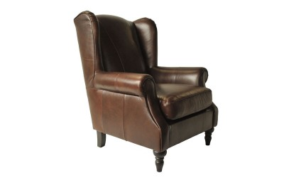 Queen Ann Chair Dark Brown 02